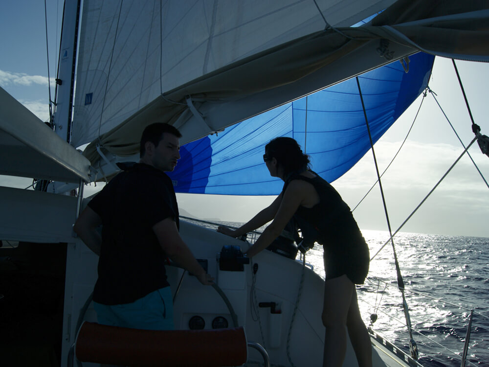Coaching catamaran couple