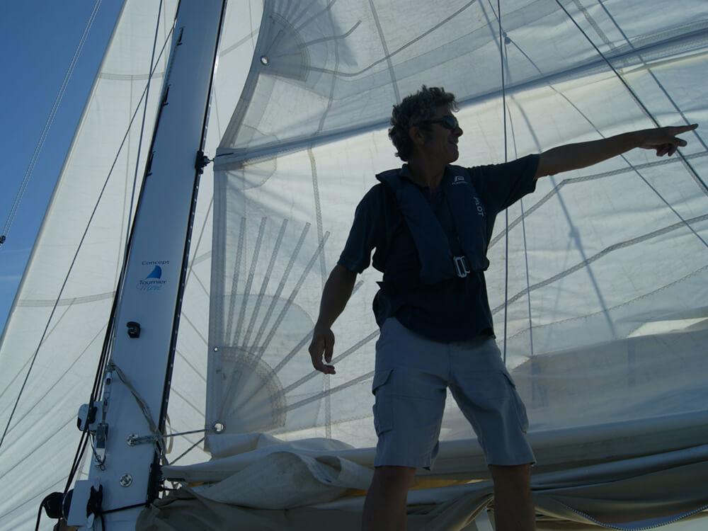 Gilles Robert, skipper de Yachtig Formations Croisière
