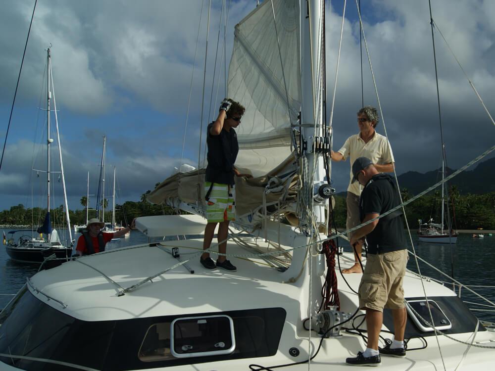 Prise en main de voilier catamaran