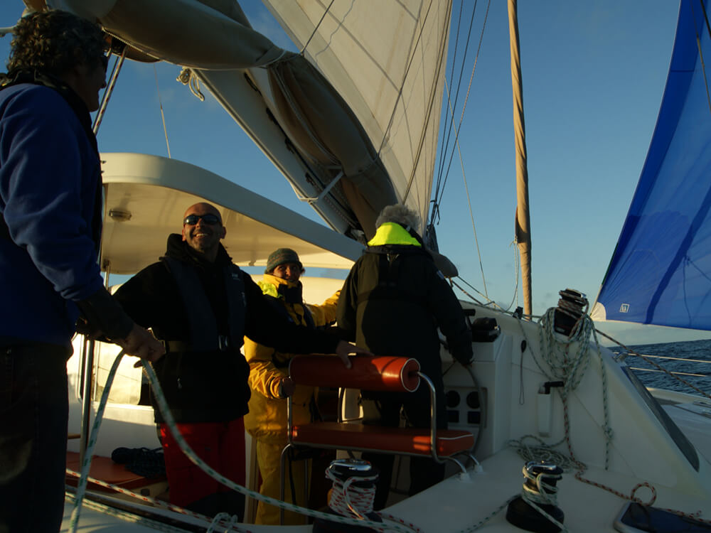 Encadrement sur catamaran avec skipper professionnel