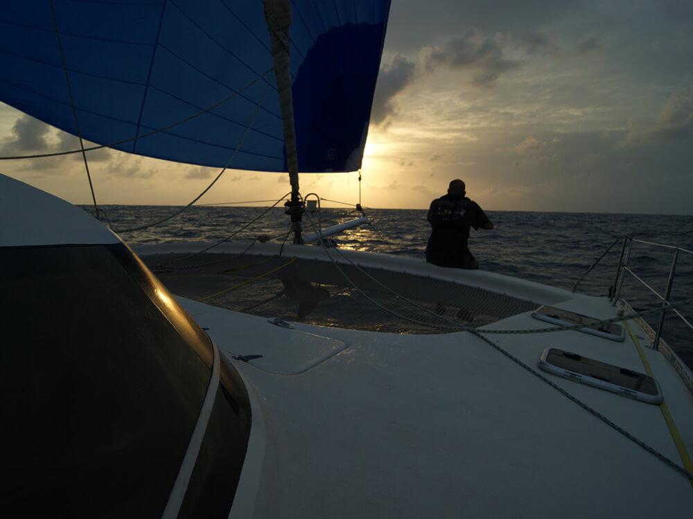 Quart, navigation hauturière Atlantique