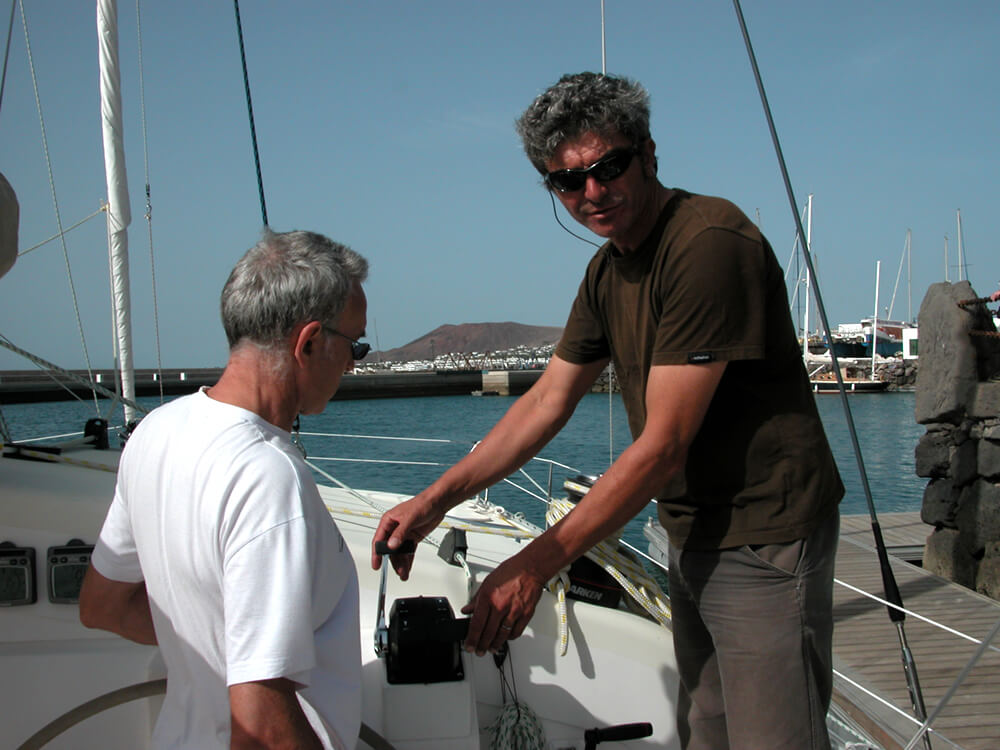 Stage catamaran : manœuvres de port