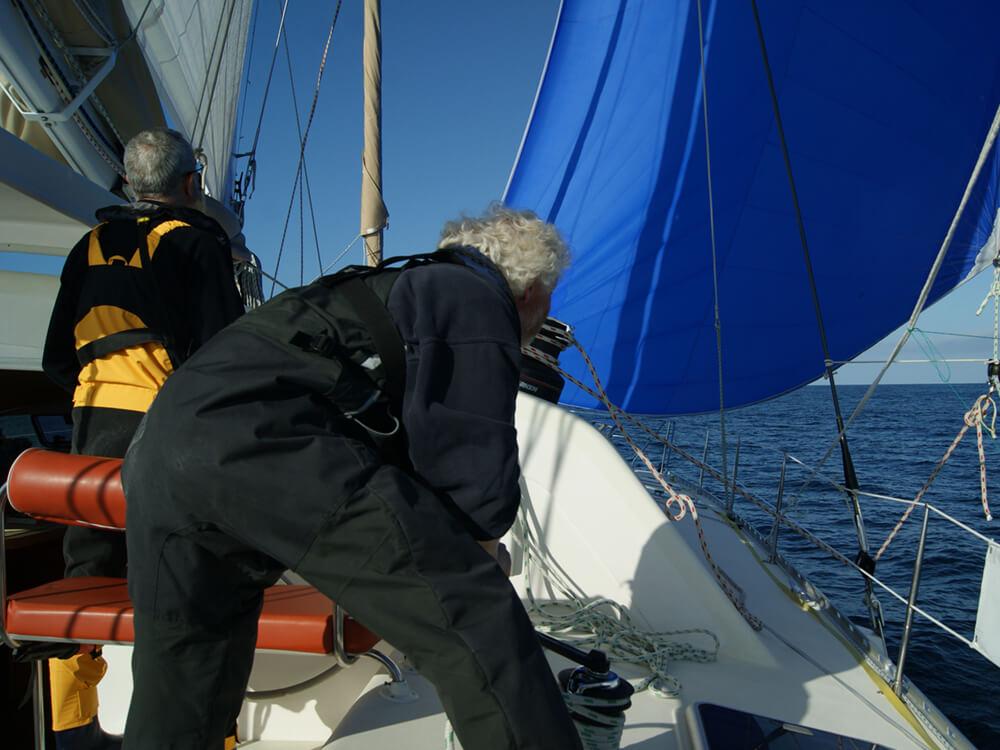 Stage catamaran : réglage spi