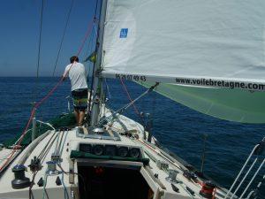 Manœuvres avec skipper sur voilier First 32