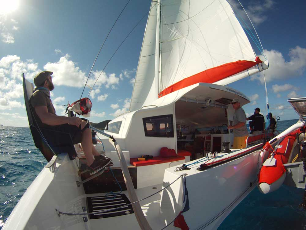 stage catamaran ts avec équipage vers les Grenadines