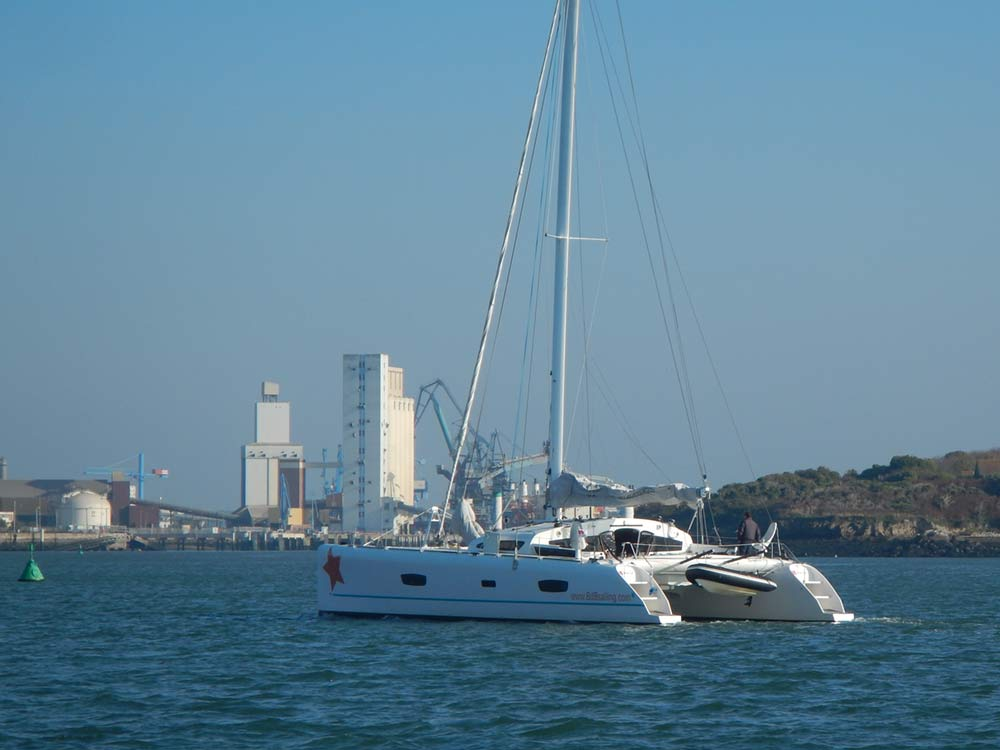TS 52 Pampero, Catamaran performant, rade de Lorient