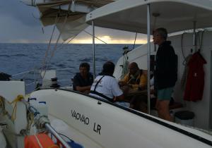 Equipage du stage catamaran Freydis 49 en navigation