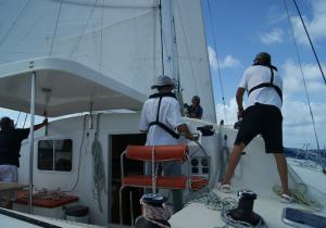 Stage performance-catamaran renvoi de ris en transat