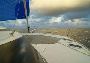 Grains pendant la transat en catamaran Freydis 49